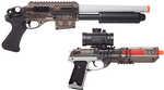 Ghost Eraser Kit, Spring Powered Shotgun and Pistol Kit     Spring Powered Shotgun Specifications:    - Color/Finish: Gray/Smoke   - Up to 370 fps  - Adjustable hop up  - 14 Round magazine  - Picatinn...
